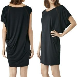 All Saints Tessi Dress asymmetrical t-shirt drape